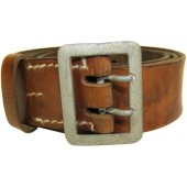 3rd Reich brown leather belt. Officers