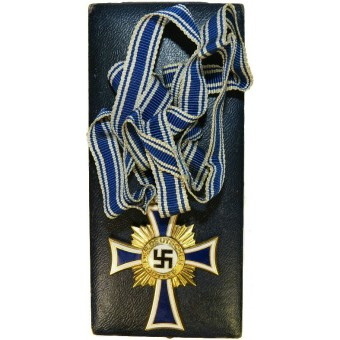 3rd Reich cross of German mother - Ehrenkreuz der Deutschen Mutter, Gold