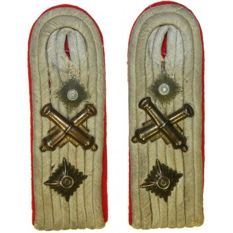 Artillery shoulder boards for Ordinance Hauptmann. Espenlaub militaria