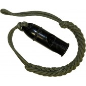 German bakelite whistle - Waffen SS or Wehrmacht with lanyard