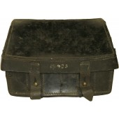 German Black leather  pouch for flare pistol ammos, marked 1937