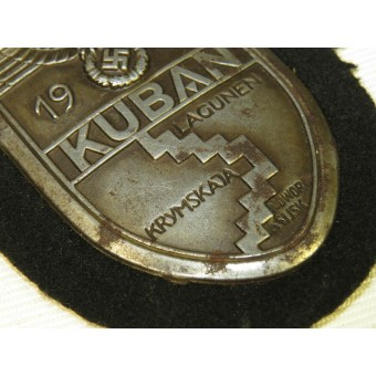 Kuban shield 1943, on black wool-for armored troops. Espenlaub militaria