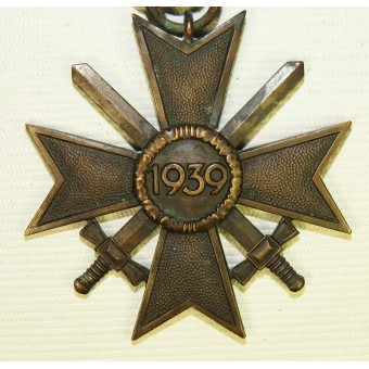 KVK II class War merit cross, patinated bronze. Espenlaub militaria