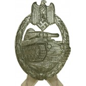 Third Reich Tank assault badge / Panzerkampfabzeichen in silver.