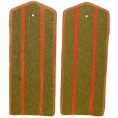 RKKA, Soviet officers in rank over major unissued war time hard shoulder boards