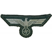 Tunic removed early Wehrmacht Heer flatwire eagle for NSOs/Officers
