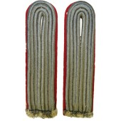 Wehrmacht Heer artillery matt silk braid sew in shoulder boards