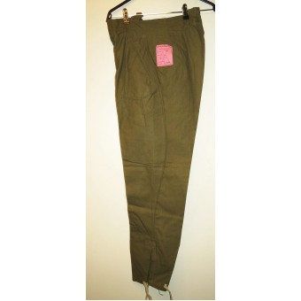 Wehrmacht Heer mint tropical breeches - W-H.Tropen Stiefelhosen with label. Espenlaub militaria