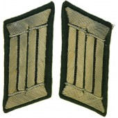 Wehrmacht Heer Pionier, collar tabs for officer with black Waffenfarbe