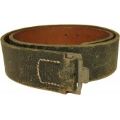 Wehrmacht or Waffen SS leather combat belt- 90 cm
