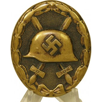 Wound badge 1939, black, brass. Espenlaub militaria