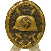 Wound badge 1939, black, brass