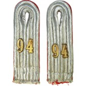 Luftwaffe FLAK 94 regiment officer shoulder boards