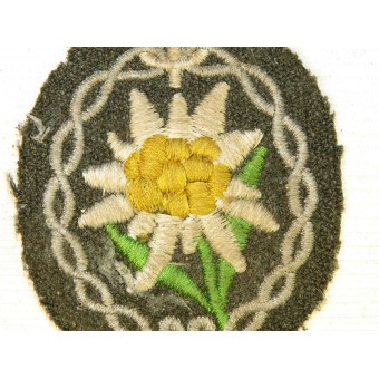 M40 German Gebirgsjager Edelweiss sleeve patch tunic removed. Espenlaub militaria