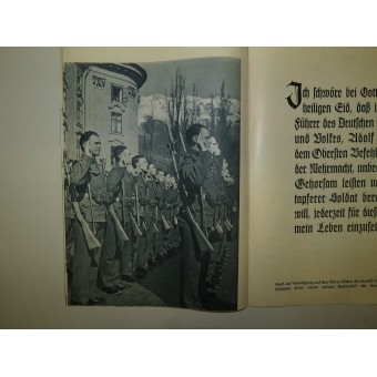 Voting brochure,1938.  Reunification (Anschluss) of Austria with the 3rd Reich.