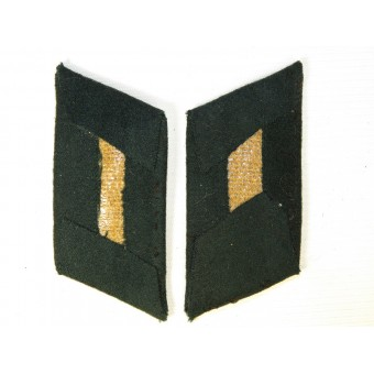Nice tunic removed German Army collar tabs for Wehrmacht infantry officer. Espenlaub militaria