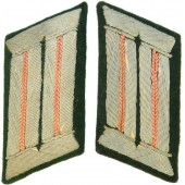 Pair of tunic removed Wehrmacht Panzer collar tabs for Feldbluse