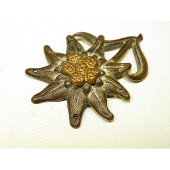 Pre-war edelweiss badge for the mountain troops cap. Espenlaub militaria