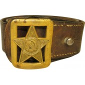 Red Army officer leather belt with buckle, M1935