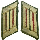 Set of artillery officer's collartabs tunic removed