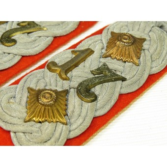 Wehrmacht 17th artillery regiment shoulder boards. Espenlaub militaria