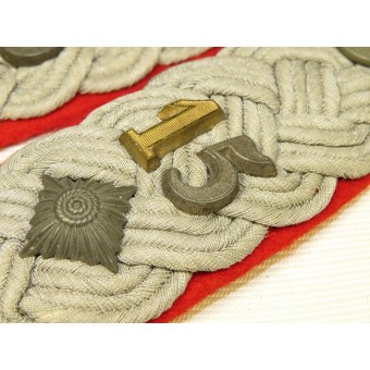 Wehrmacht Oberstleutnant commander of the 2nd Bat. 15 Art. Reg. shoulder boards