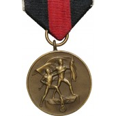 Annexation of the Sudetenland medal,  October,01  1938