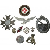 Set of  3rd Reich badges in fair condition.