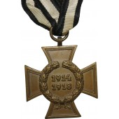 The Honor Cross of the WW1 1914/1918. Carl Wild for non-combatant participants