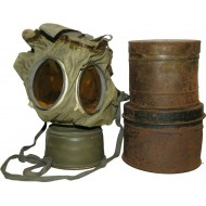 German WW1 Rahmenmaske M16 with original early period separate canisters