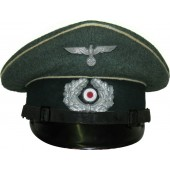 Infantry visor hat for NCO's of Wehrmacht Heer. Size 60