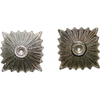 11 mm rank pip, silver. Fit to SS collar tabs