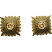 12 mm gold Wehrmacht or W-SS rank pip for officers shoulder boards
