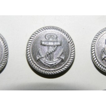21mm Kriegsmarine buttons, silver painted for administration of Kriegsmarine. Espenlaub militaria
