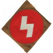 Deutsche Jungvolk sleeve emblem, white rune on the red field
