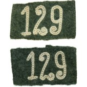M 40 Slip on slides for Wehrmacht 129 Regiment's shoulder boards