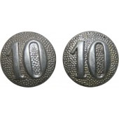 Wehrmacht Heer Shoulder straps button with the company # 10.