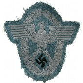 3rd Reich field police BeVo eagle for tunic. Uniform removed example