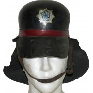 RLB leather protective helmet with neck protection. ( RLB Leder Schutzhaube)