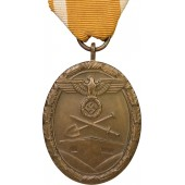 """Bronze made """"West Wall medal"""" 1st type"""