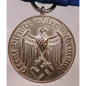 Faithfull service in Wehrmacht medal, 4 years, with Luftwaffe bar. Espenlaub militaria