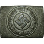 3rd Reich combat police steel buckle, aluminum coated