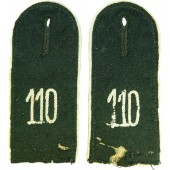 Heer Infanterie enlisted shoulderstraps in rank Schuetze for 110 Infantry Regiment