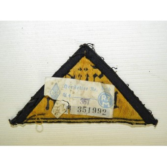 Hitlerjugend triangle patch with district name Sud-Baden. Espenlaub militaria