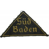 Hitlerjugend triangle patch with district name Sud-Baden