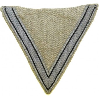 Luftwaffe grey sleeve winkel for working garment - rank Gefreiter. Espenlaub militaria