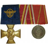 Medals  bar belonged to the Police serviceman, WW1 and WW2