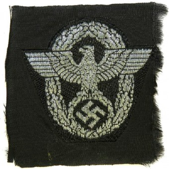 Third Reich Polizei or SS Polizei flatwire eagle for headgear. Espenlaub militaria