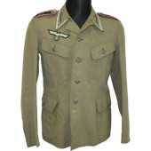 Unteroffizier of 25th Artillery regiment Wehrmacht Heer summer tunic