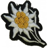 Waffen SS Edelweiss side patch for cap